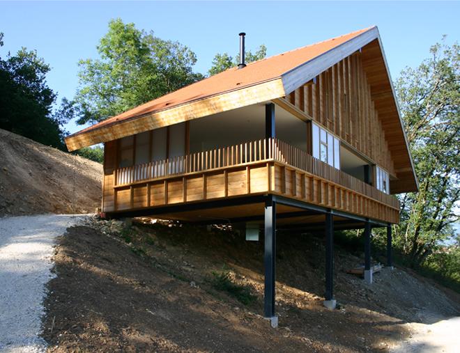 Maison sur la montagne 2011 arba jean baptiste barache for Casa moderna en la montana